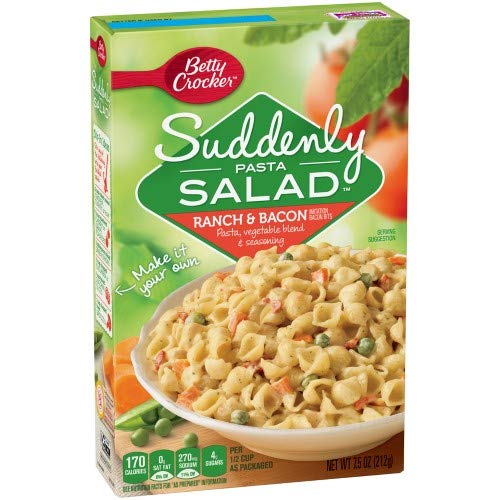 Betty Crocker Suddenly Salad Pasta Kit Ranch & Bacon (Pack of 24) by Generic (Image #1)