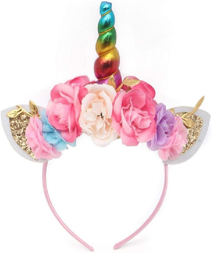 NOBRAND Tocado Banda de pelo de unicornio Tocado de Halloween Banda de pelo de oreja de conejo Diadema para niños