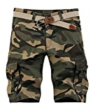 FOURSTEEDS Women's Cotton Loose Fit Relaxed Multi-Pocket Casual Hiking Cargo Shorts