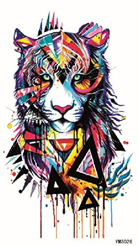 GGSELL GGSELL waterproof and non toxic temporary tattoos Colorful tiger head temporary tattoos