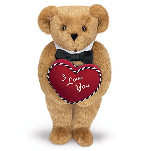 Vermont Teddy Bear - Romantic at Heart Valentine's Day Bear, 15 inches, Made in the USA