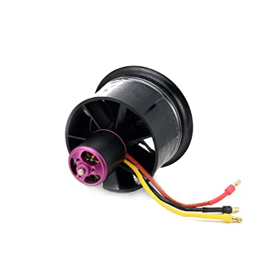 Powerfun EDF 64mm 11 Blades Ducted Fan with RC Brushless Motor 3500KV Balance Tested for EDF 3S/4S RC Jet Airplane: Toys & Games