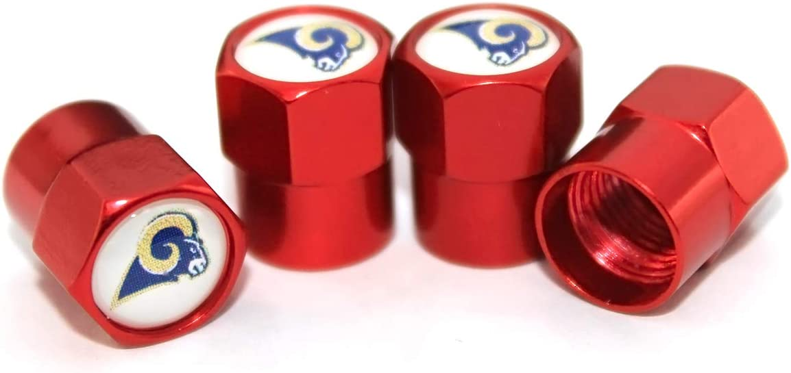 New Orleana Saints Aluminum Tire Wheel Stem Air Valve Caps for Auto Car Motorcycle Bicycle auto Parts 4 Pcs//Set Red Aluminum Tire Valve Stem Cap with Rugby Team Logo Style