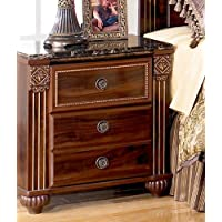 Gabriela Two Drawer Night Stand Dark Reddish Brown