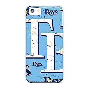 Great Hard Phone Cover For Iphone 5c With Allow Personal Design Lifelike Tampa Bay Rays Image RitaSokul