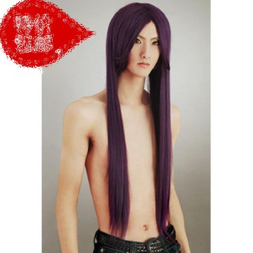 Long purple straight cosplay wig Wig fox X servant SS honky hospital stern butterfly , poison Island Saeka child up purple cosplay wig - Poison Butterfly