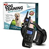 Training Dog Collar - PetTech PT0Z1 Premium Dog Training Shock Collar, Fully Waterproof, 1200ft Range
