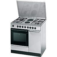 طباخ انديست بالفرن المختلط 90×60 سم مع 4 شعلات غاز وطبقتين ساخنتين، فرن ساكن وشواية كهربائية K9B11SXI