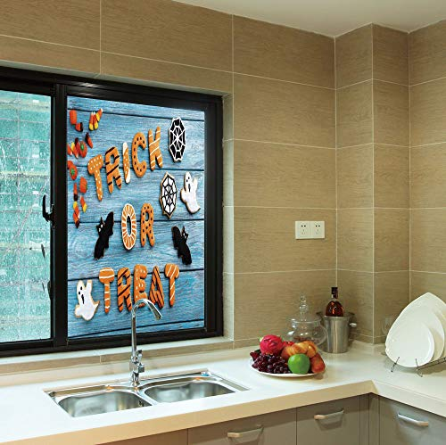 YOLIYANA Frosted Window Film,Halloween,for Shop Restaurant Home,Fresh Trick