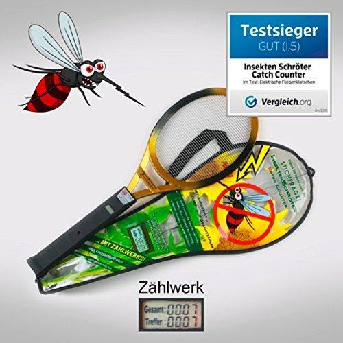Insekten Schröter mit Zählwerk (LCD-Anzeige) Elektrische Fliegenklatsche