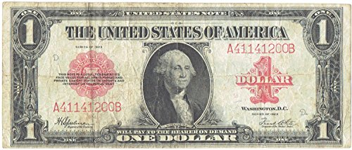 (1923 $1 United States Note Large Size Red Seal)