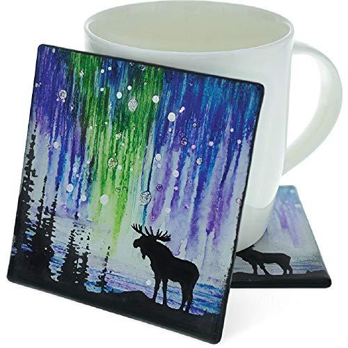 Angelstar 19705 Moose Wildlife Set of 4 Coasters One Size ()