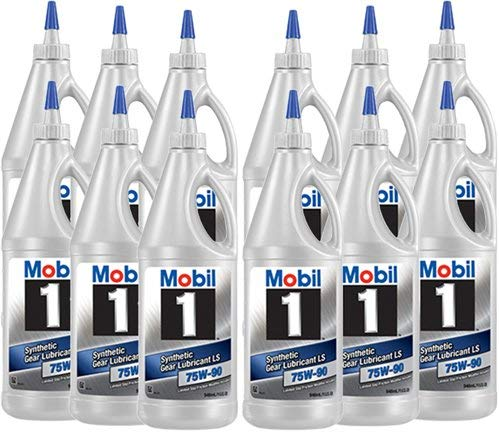 Mobil 1 104361 75W-90 Synthetic Gear Lube - 1 Quart (Pack of 12) (1 Mobil Oil Gear)