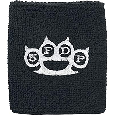 Five Finger Death Punch Knuckles Wristband Sweatband Black-White Estimated Price £10.99 -