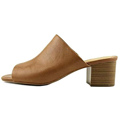 Aerosoles Womens Midterm Leather Open Toe Mules
