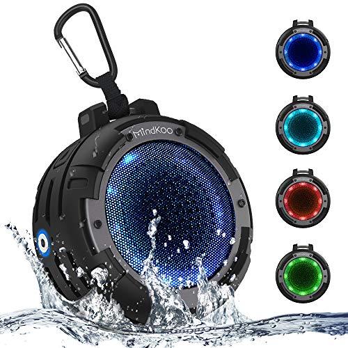 Mindkoo Bocina Bluetooth Portátil, Altavoz Inalámbrico Deportivo con IPX8 Impermeable, Micrófono Incorporado, 4 Modos de...