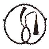 SPECIAL PRICE Dense Tamarind Tree Wood - 8mm 99-Bead Prayer Beads with 2 Beautiful Tassels
