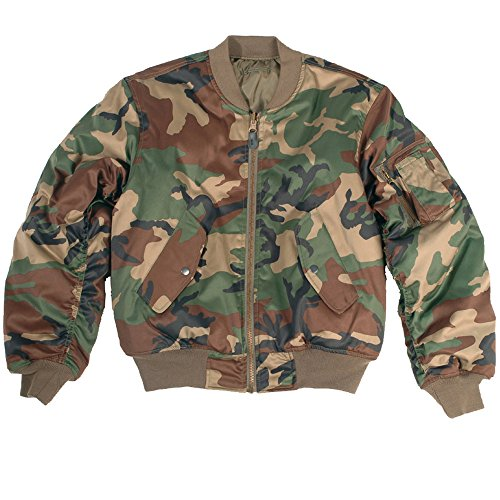 Mil-Tec MA-1 Flight Veste Woodland 1