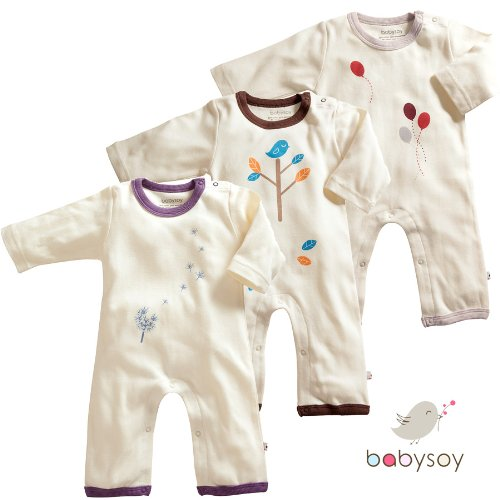 Babysoy Baby Girl's Footed One Piece