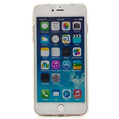 Zanasta Designs iPhone 7 Funda Cubierta Case Cover Silicona Flexible Soft Shell Protección para las partes delantera y trasera, Transparente Transparente