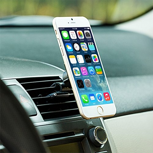Premium Quality Magnetic Car Mount AC Air Vent Holder for iPhone 7 6 6S,  PLUS, SE, 5S 5C 5 4S (All carriers including AT&T, T-Mobile, Sprint,  Verizon,