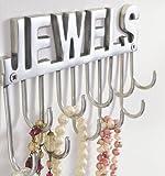 """Liamare Wandhaken Schriftzug """"Jewels"""" für Ketten & Accessoires silber B-WARE"""