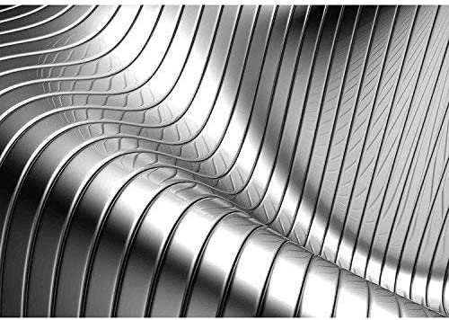 Wall26 Aluminum Abstract Silver Stripe Pattern Background 3d