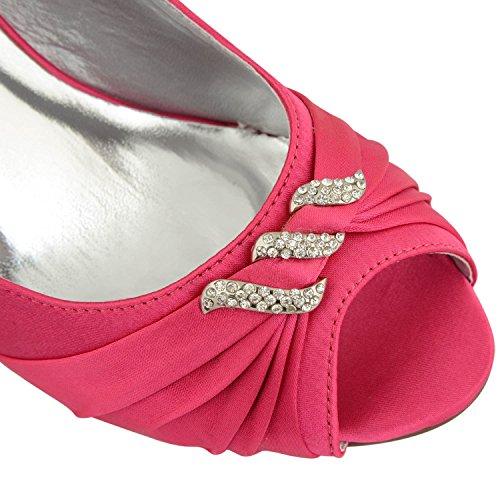 Footwear Sensation - Zapatos de tacón mujer fucsia