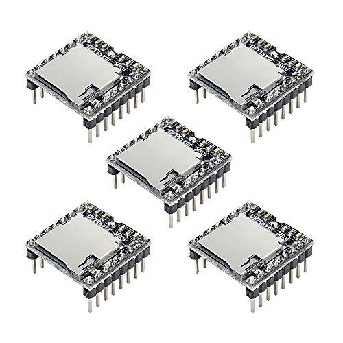 Aideepen 5PCS DFPlayer Mini Mp3 Player Board YX5200 Module Support TF Micro SD Card U Disk Audio Music for Arduino