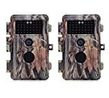[New Released] BlazeVideo 2-Pack 16MP 1080P Game Trail Hunting Wildlife Cameras Camouflage, Hunters