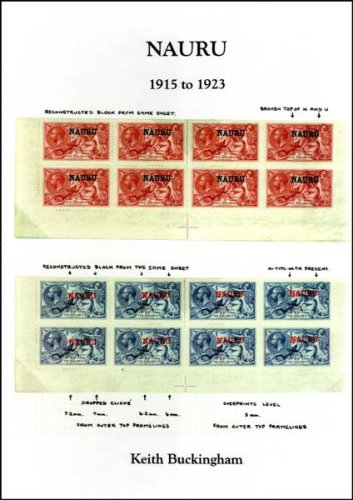 Nauru 1915 to 1923: A Study of the Adhesives of Great Britain Overprinted for Use in Nauru: A Study of the Adhesives of Great Britain Overprinted for Use in Navru