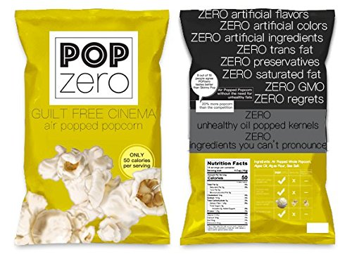 Cinema Popcorn Bulk Party Packs - 9 Large Bags ( 6 oz each) of Movie Theater Butter and Salt Flavored Gourmet Popcorn - Light and Healthy Non GMO Air Popped Kernels … (Popcorn Glaze Topping)