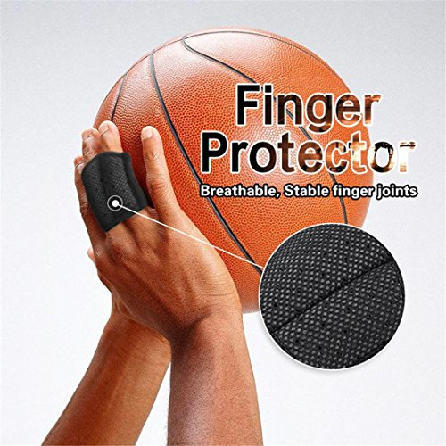 (Finger Sleeves, Coerni Breathable Double Finger Splint Joint Support for Basketball, Tennis,Baseball, Cricket, Volleyball, Badminton)