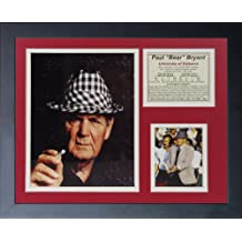 """Legends Never Die """"Paul 'Bear' Bryant Hat"""" Framed Photo Collage, 11 x 14-Inch"""