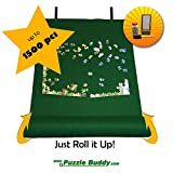 Puzzle Buddy: Jigsaw Puzzle Roll Up Felt Mat | Securely Store, Transport Unfinished Puzzles, (Includes Box Stand and Glue Kit), Perfect for Grandparents, Grandkids and Puzzle Enthusiasts | Made In the USA - Storage Kit For Puzzles Up To 1500 Pieces, 42'' x