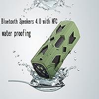 Waterproof Sport Speaker,Geeki Portable Wireless Bluetooth Speaker Bass Subwoofer Sound Speaker Bluetooth Speakers 4.0 with NFC Built-in Microphone 3600mah Rechargeable Battery Green