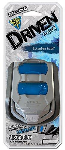 (Refresh Your Car Driven E300883300 Scented Visor Clip, Titanium Rain)