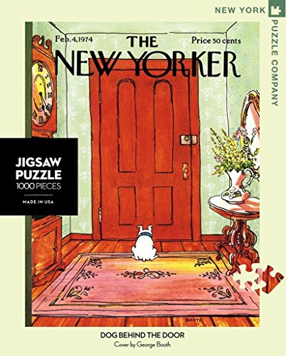 (New York Puzzle Company - New Yorker Dog Behind The Door - 1000 Piece Jigsaw Puzzle)