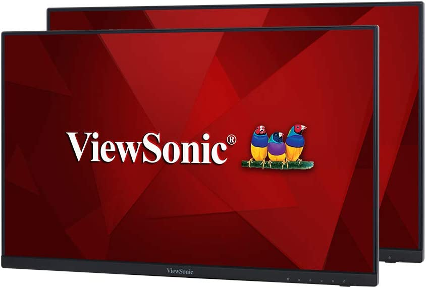 ViewSonic VA2256-MHD_H2 Frameless Dual Pack Head-Only 1080p IPS Monitors with HDMI DisplayPort and VGA for Home and Office