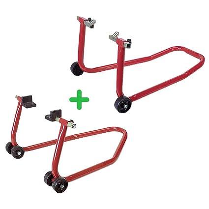 3ec4b07e PACK soporte/elevador/caballete DELANTERO + TRASERO caballetes universal  para motos RZ TOOLS