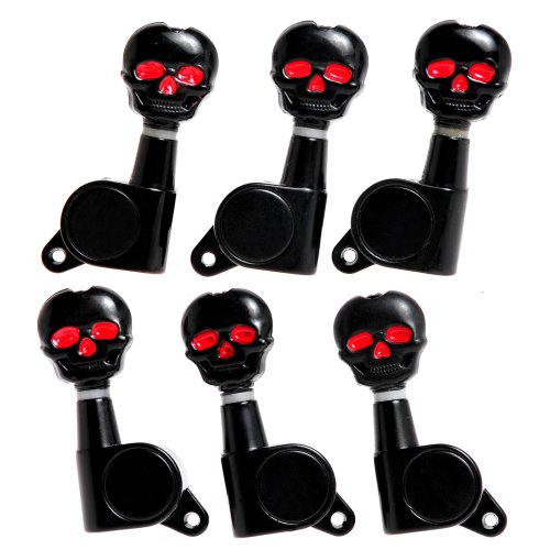 3L3R Skull Guitar Sealed -Gear Tuning Pegs Machine Head Black (A3040) from Kmise