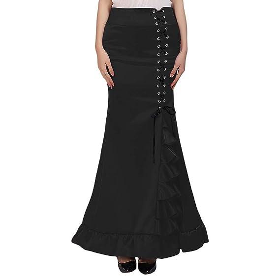 Amazon.com: Falda para mujer, estilo punk, vintage, gótico ...