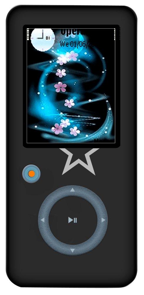 Nero Irradio Lettore MP3//MP4 da 4 GB con Display 1.8 a Colori