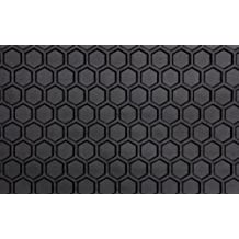 Intro-Tech VW-101F-RT-B Hexomat Front Row 2 pc. Custom Fit Auto Floor Mats for Select Volkswagen Beetle Models w/Kick Panel - Rubber-like Compound, Black