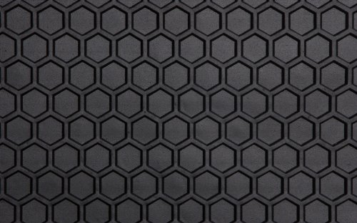Intro-Tech IS-116AF-RT-B HexoMats Front Row 2 pc. Custom Fit Auto Floor Mats for Select Isuzu Trooper Models - Rubber-Like Compound, Black