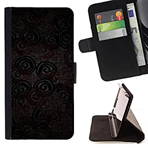 DEVIL CASE - FOR LG Nexus 5 D820 D821 - Wallpaper Textile Design Pattern Circle Lines - Style PU Leather Case Wallet Flip Stand Flap Closure Cover