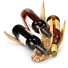 Mountain Mike's Reproductions MMR TBWR Three Bottle Antler Wine Rack