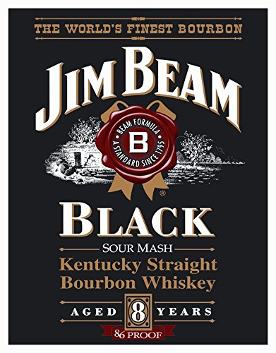 Jim Beam Black Label Classic Old Fashioned Vintage Advertising Metal Tin Sign 8x10 ()