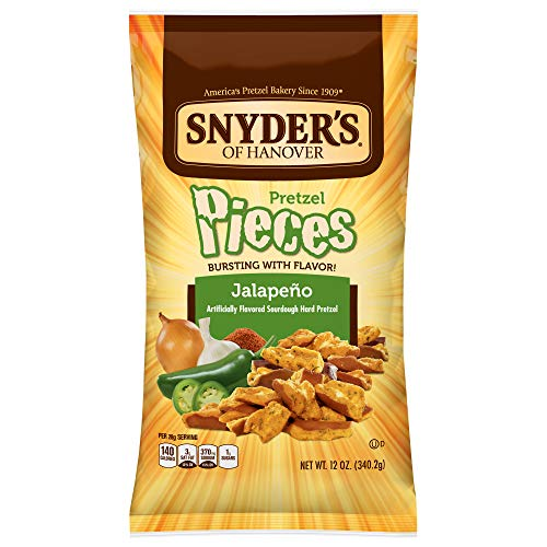 (Snyder's of Hanover Pretzel Pieces, Jalapeno, 12 Ounce (Pack of 12))