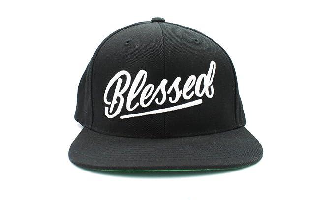 9293c5883e9ec Amazon.com  Blessed hats Caps Snapbacks by Risen Apparel (Black)  Clothing